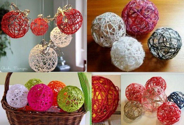 Tutos boules de no l en laine le serviettage de nafeuse - Comment faire des decoration de noel ...