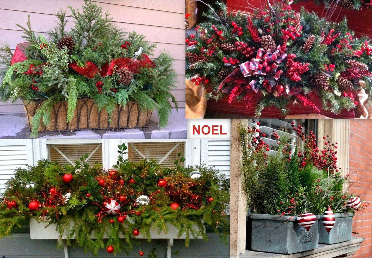 Faire une jardini re de no l le serviettage de nafeuse - Faire ses decorations de noel ...