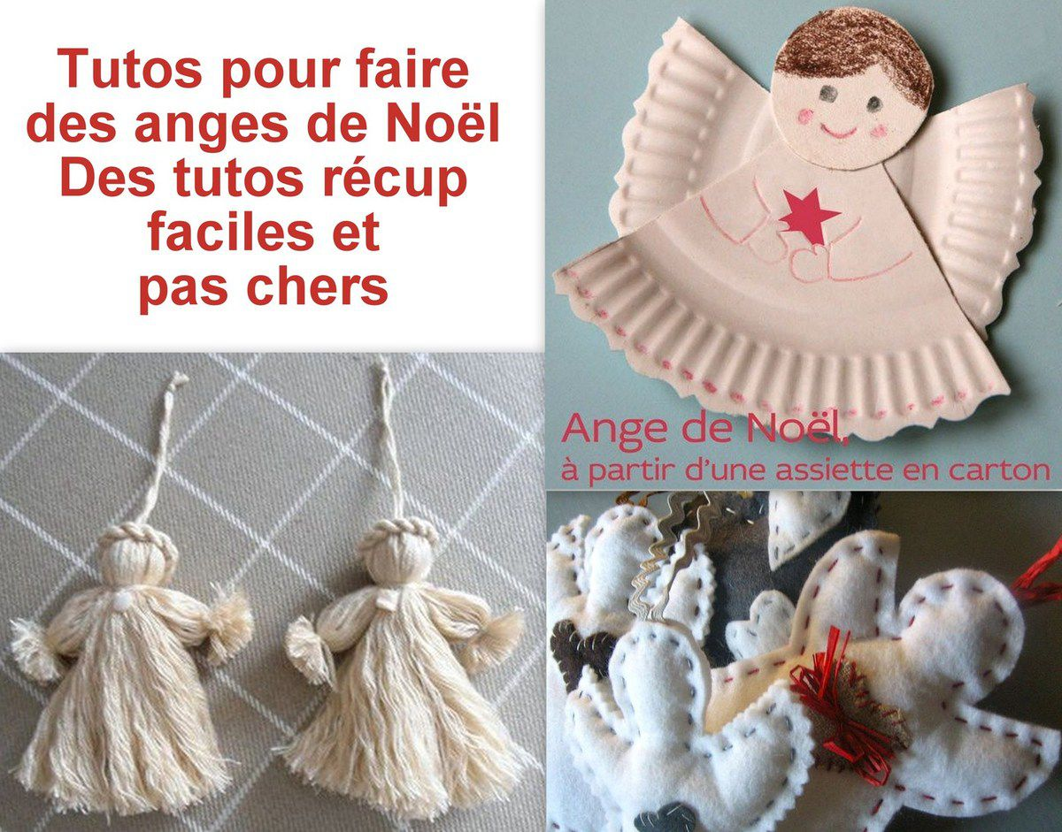 Faire des anges de no l 3 tutos le serviettage de nafeuse - Porte nom noel a faire soi meme ...