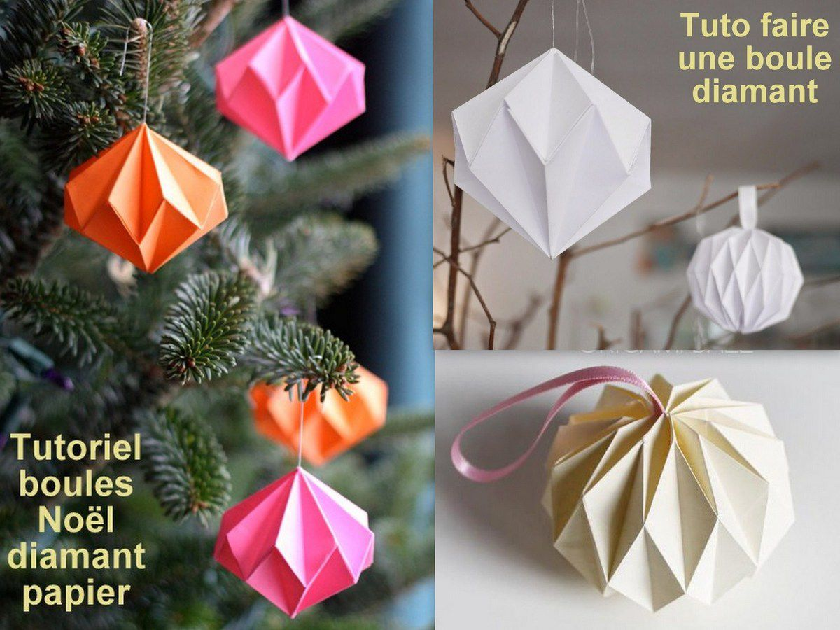 tutoriel boule de noel en papier. Black Bedroom Furniture Sets. Home Design Ideas