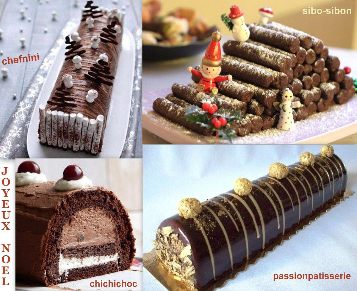 Decoration buche de noel a faire soi meme
