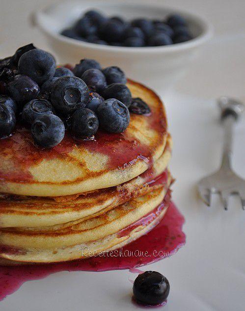 La recette des Pancakes - Sauce myrtilles