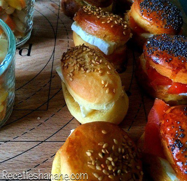 Mini buns pour sandwichs sucrés ou salés