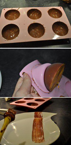 Dôme au chocolat glacé