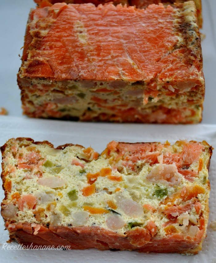 terrine au saumon fum noix de st jacques et ricotta recettes by hanane. Black Bedroom Furniture Sets. Home Design Ideas