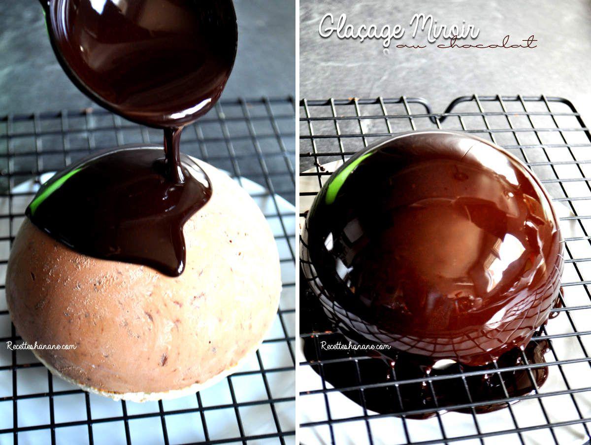 Gla age miroir cacao chocolat pour vos b ches bavarois for Glacage miroir framboise