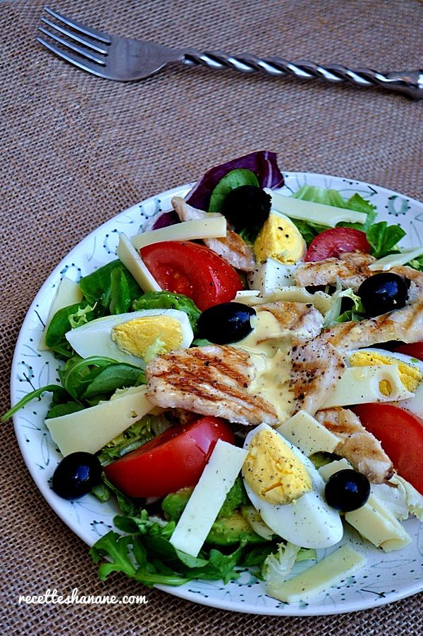Salade Composee Au Poulet Grille Recettes By Hanane