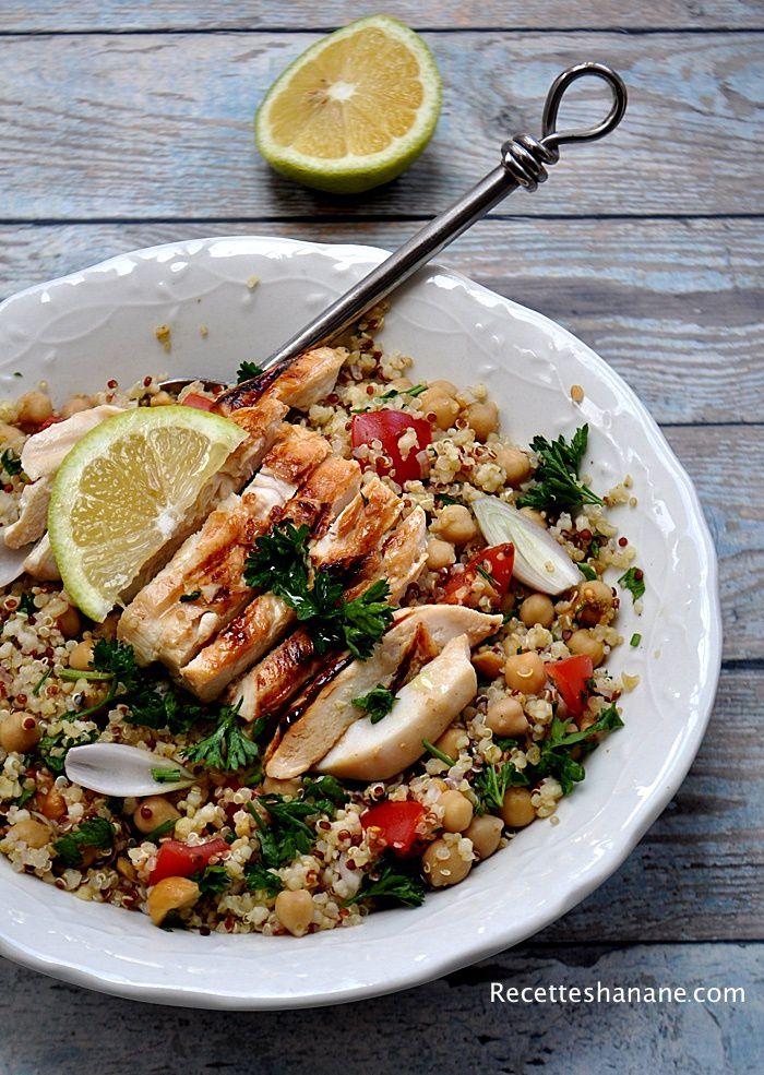 Taboulé de quinoa et pois chiche