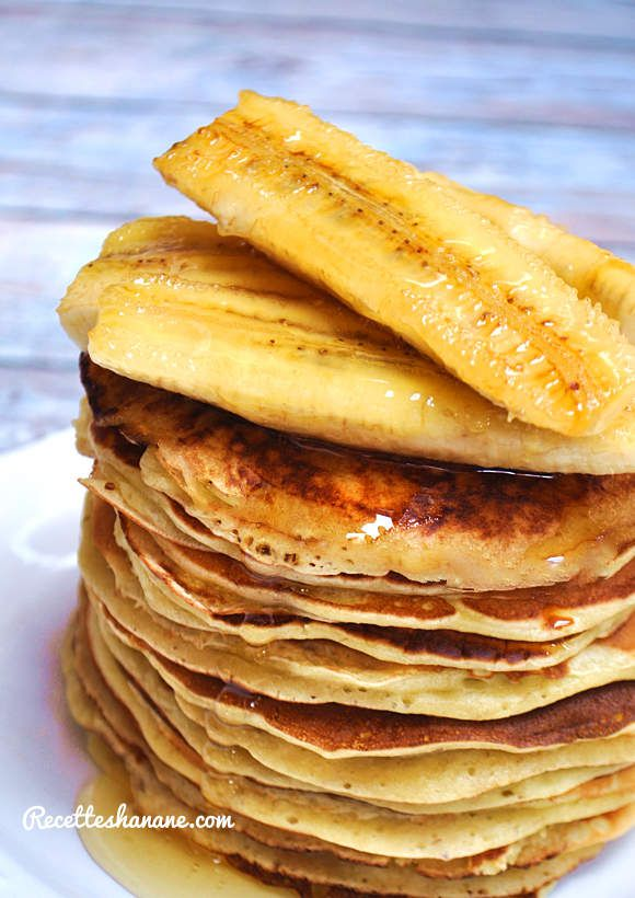 pancakes l gers la banane recettes by hanane. Black Bedroom Furniture Sets. Home Design Ideas