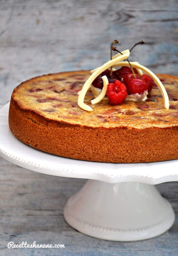 tarte aux cerises amandes recettes by hanane. Black Bedroom Furniture Sets. Home Design Ideas