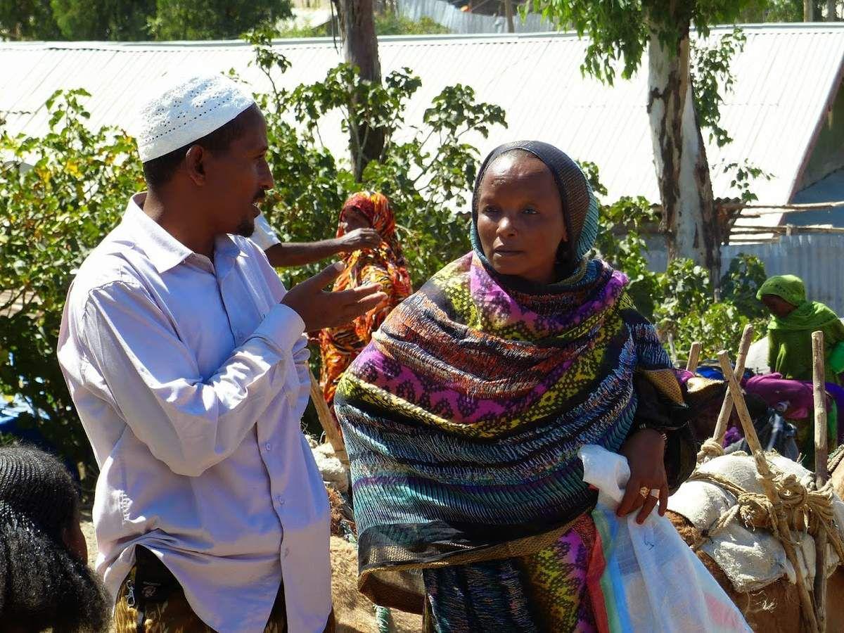 nord de l'Ethiopie&#x3B; un petit marché local