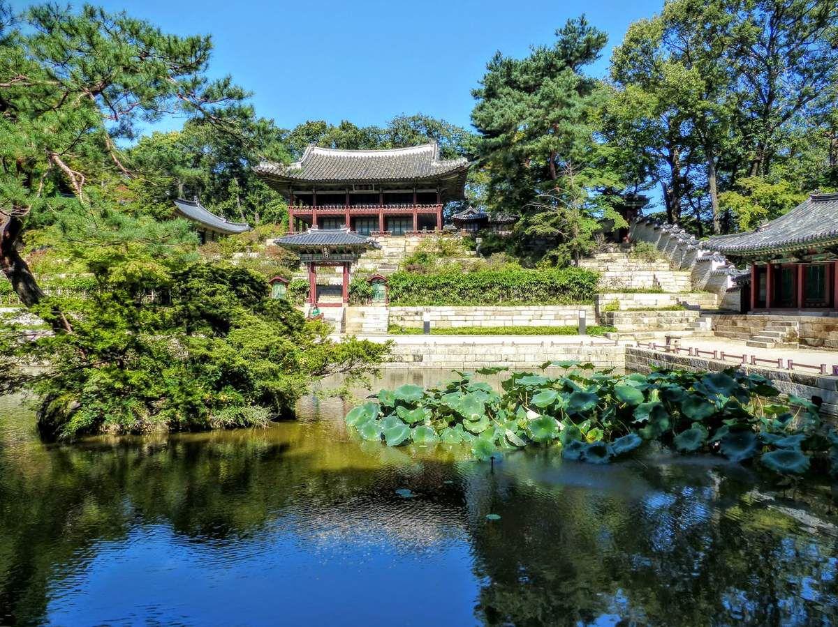 le jardin secret ou huwon garden&#x3B; réservé au roi et à sa famille
