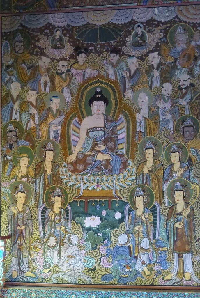 Sanbang gulsa temple&#x3B; un petit temple bouddhiste&#x3B; de superbes peintures&#x3B;