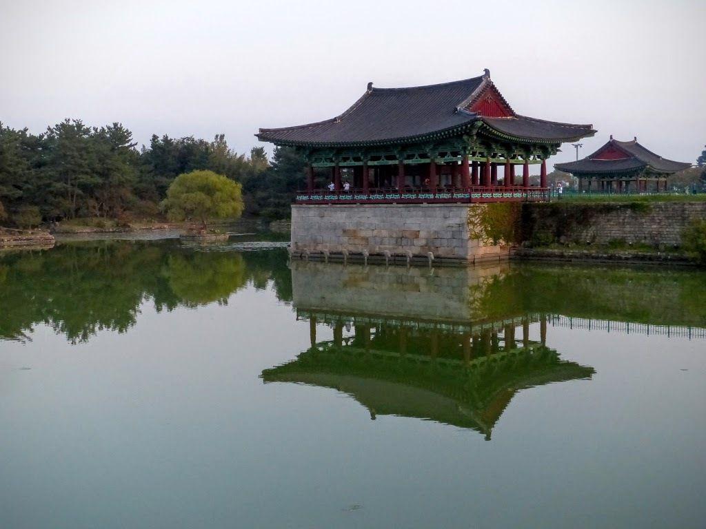 Donggung palace and Wolji pond (l'étang Wolji du palais Donggung)