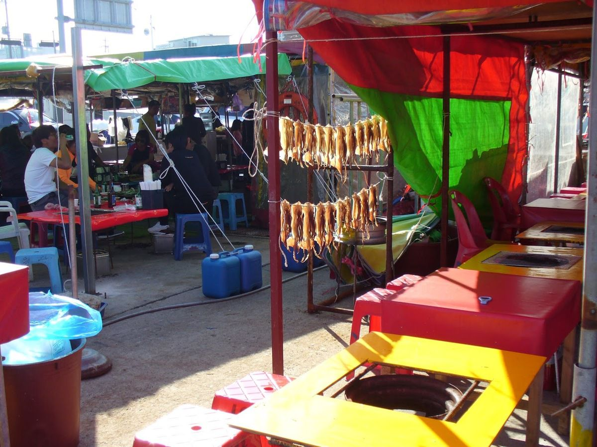 Sokcho&#x3B; dégustation de poisson grillé