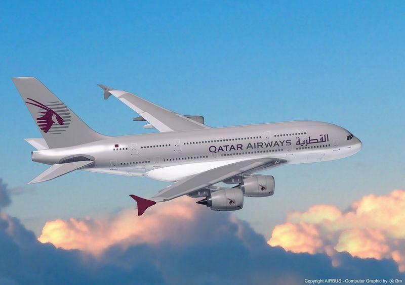 en route pour l'Afrique du Sud, via Doha