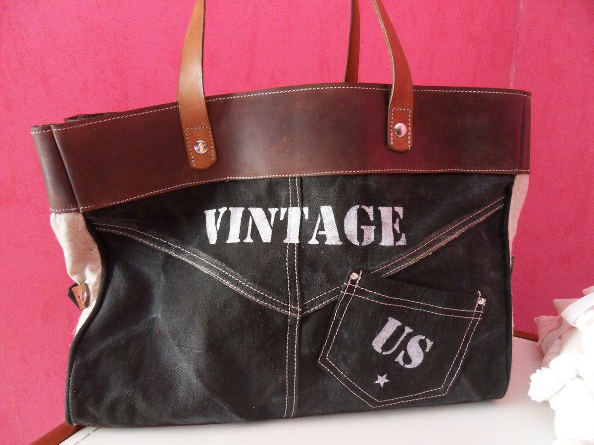 Sac inspiration jeans collection vintage