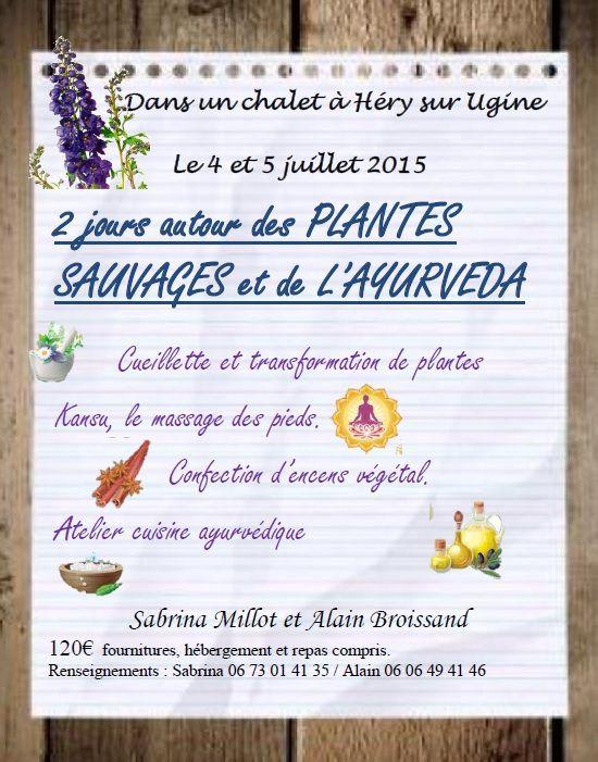 plantes et ayurveda  en juillet 2015