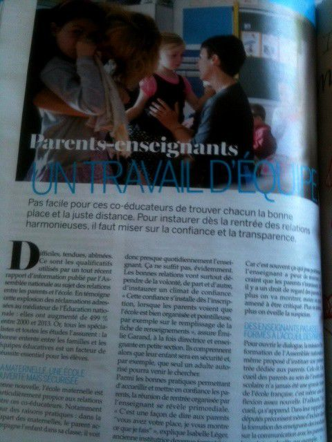 Interview dans le magazine Parents