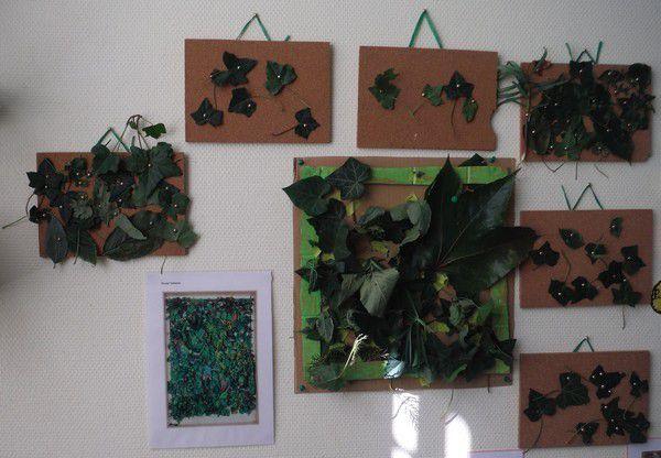 Tableau de feuilles chez Edith
