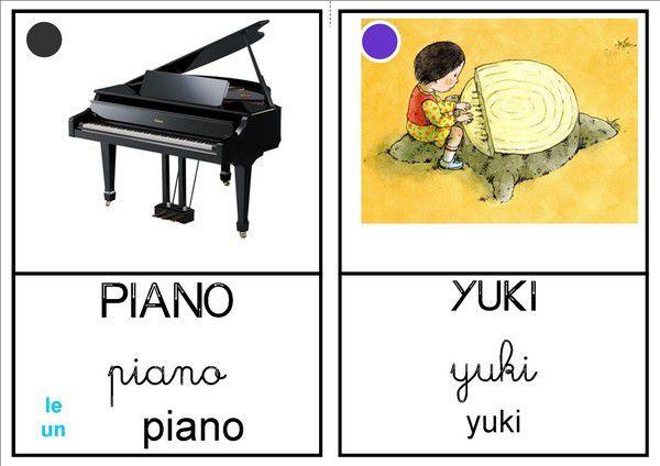 Imagier Le piano de bois chez Isa S
