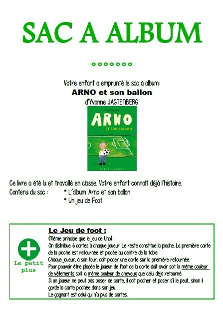 Sac à album Arno et son ballon chez Chloé