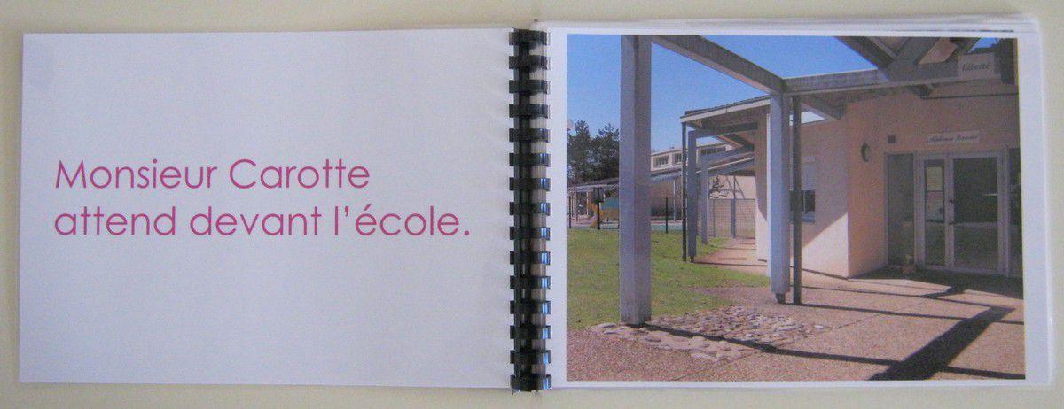 Livre Monsieur Carotte à l'école chez Pierrick