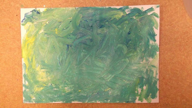 Peindre avec Mozart chez Cathy