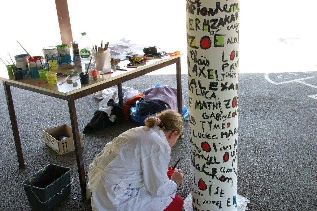 Fresque en atelier avec Pat Bonjour, auteur de Nez en moins