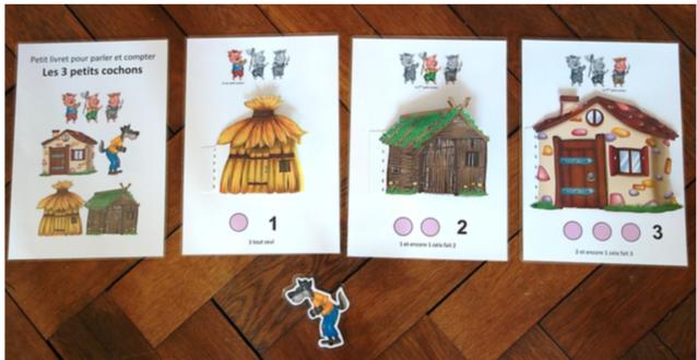 Photos du livret trois petits cochons chez christine f cole petite section - Dessin anime les 3 petit cochons ...