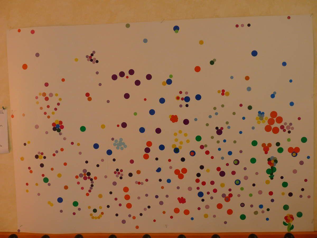 Le mur des visiteurs (parents, élèves des classes de maternelle et élémentaire collègues, futurs élèves et parents lors des portes ouvertes)
