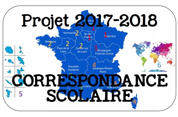 Correspondance scolaire: année 2017-2018