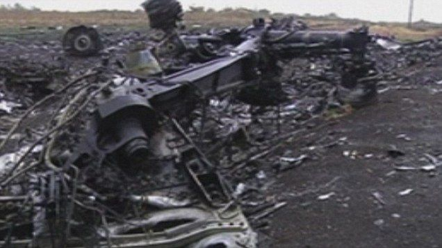 Photo de la zone du crash du MH 17