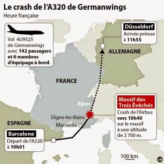 Ce que l'on sait du crash de l'airbus A 320 de Germanwings