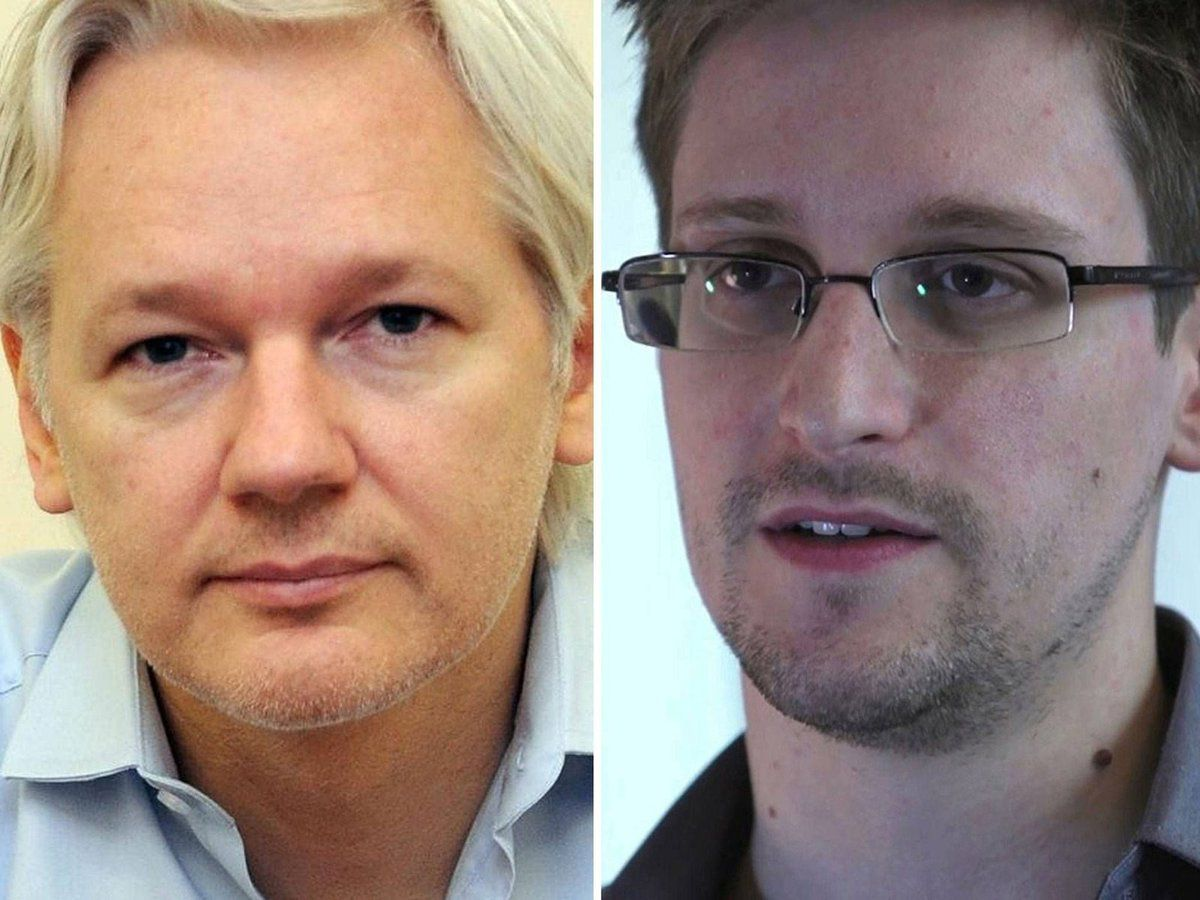 Photo: J. Assange / E. Snowden