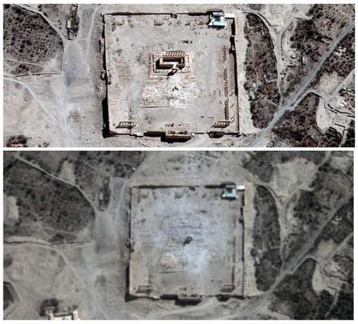 Palmyre: Des images satellites confirment la destruction du temple de Bêl