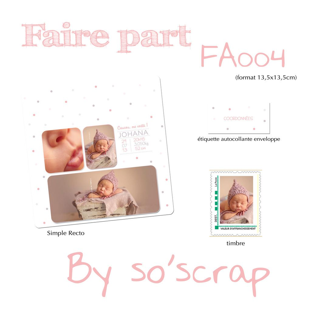 Le blog d 39 efdc by so 39 scrap - Decoration enveloppe faire part naissance ...