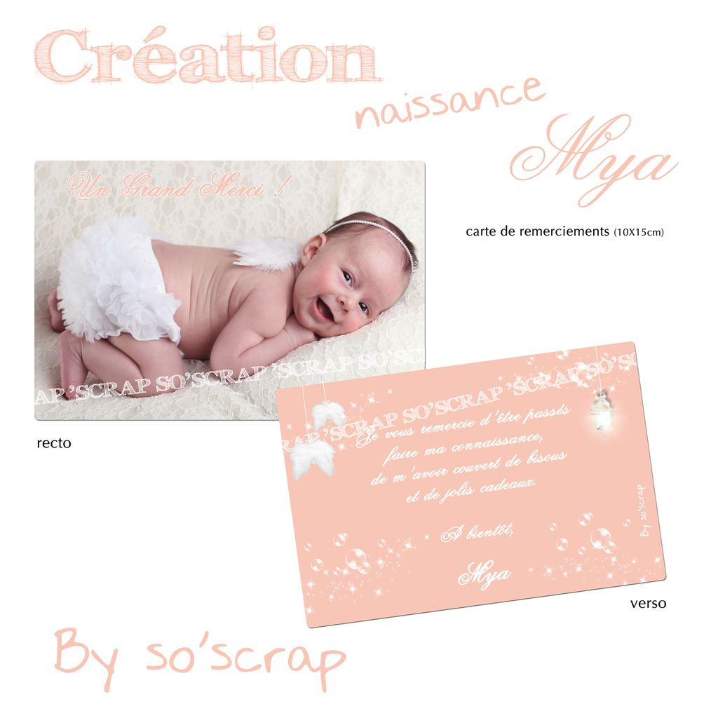 carte remerciements sur mesure, scrapbooking digitale, photographie LICATA ADRIANA PHOTOGRAPHY BELGIQUE, recto/verso 10x15cm