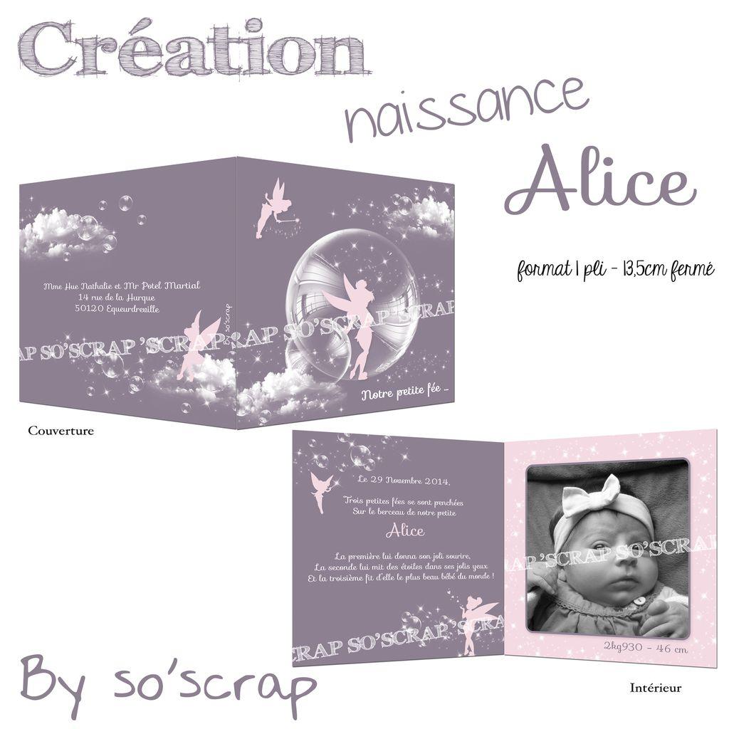 faire part naissance, scrapbooking digital, mauve et rose, création sur mesure, texte et photo à personnaliser, originale thème fée