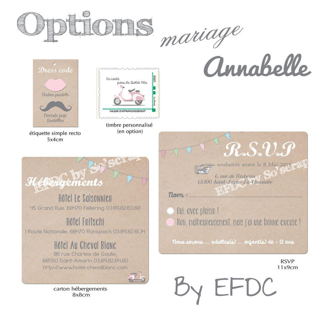 option faire part mariage, timbre personnalisé scooter vintage, rsvp, carton hébergement et étiquette dress code, scrapbooking digital