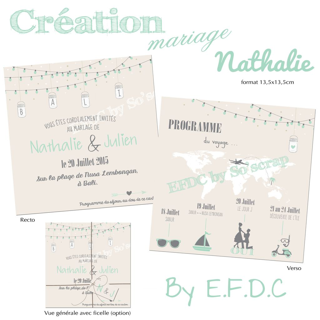Favori Le Blog d'EFDC by So'scrap - Invitation mariage sous le soleil de  WF16