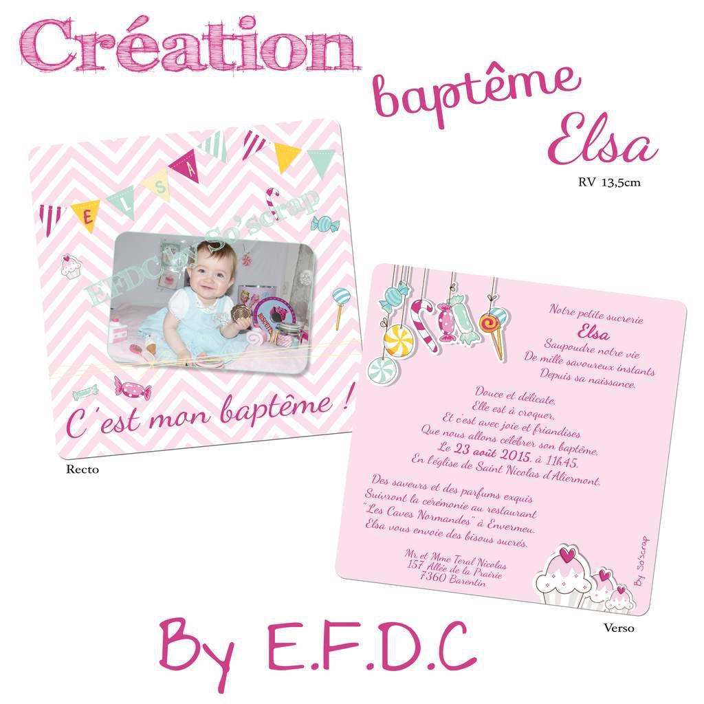 Préférence Le Blog d'EFDC by So'scrap - Le faire part de baptême de la petite  GF64