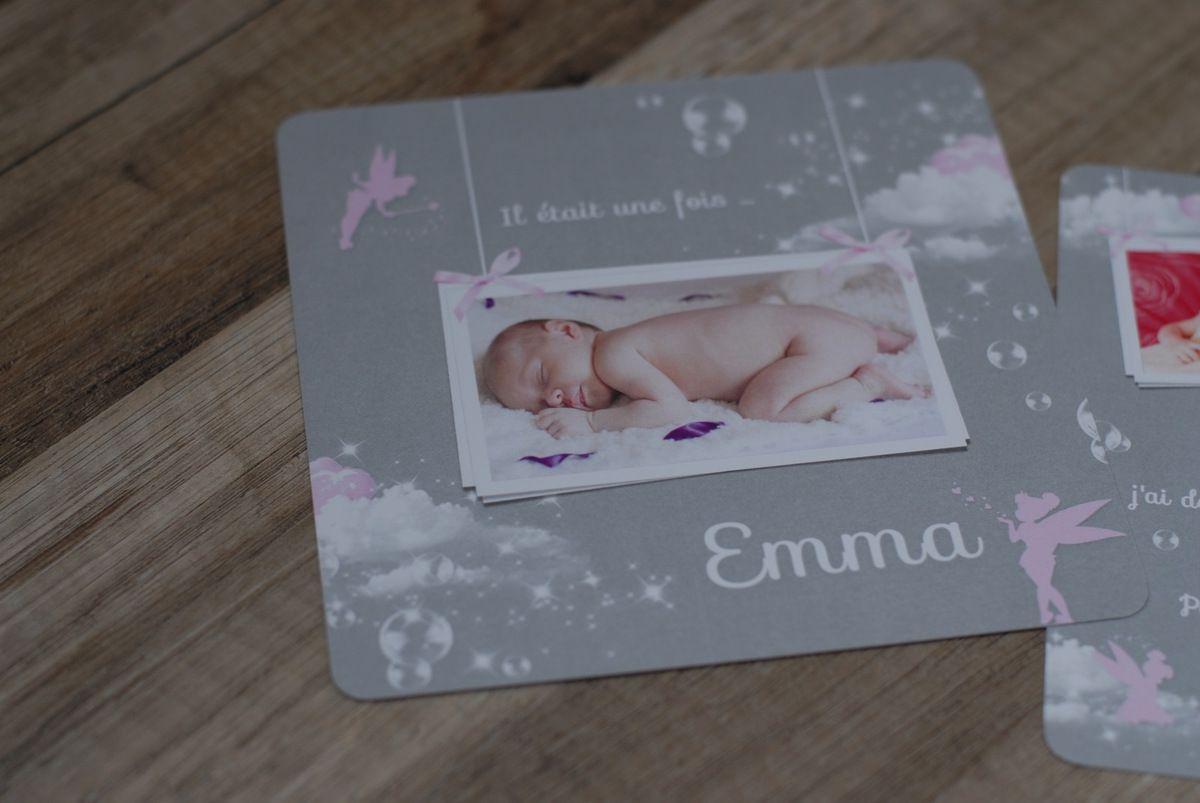 Le faire part de naissance de la petite Emma