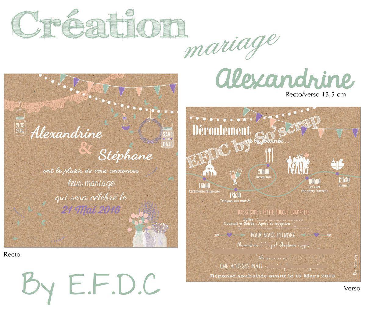 Le Blog D Efdc By So Scrap Le Faire Part De Mariage D
