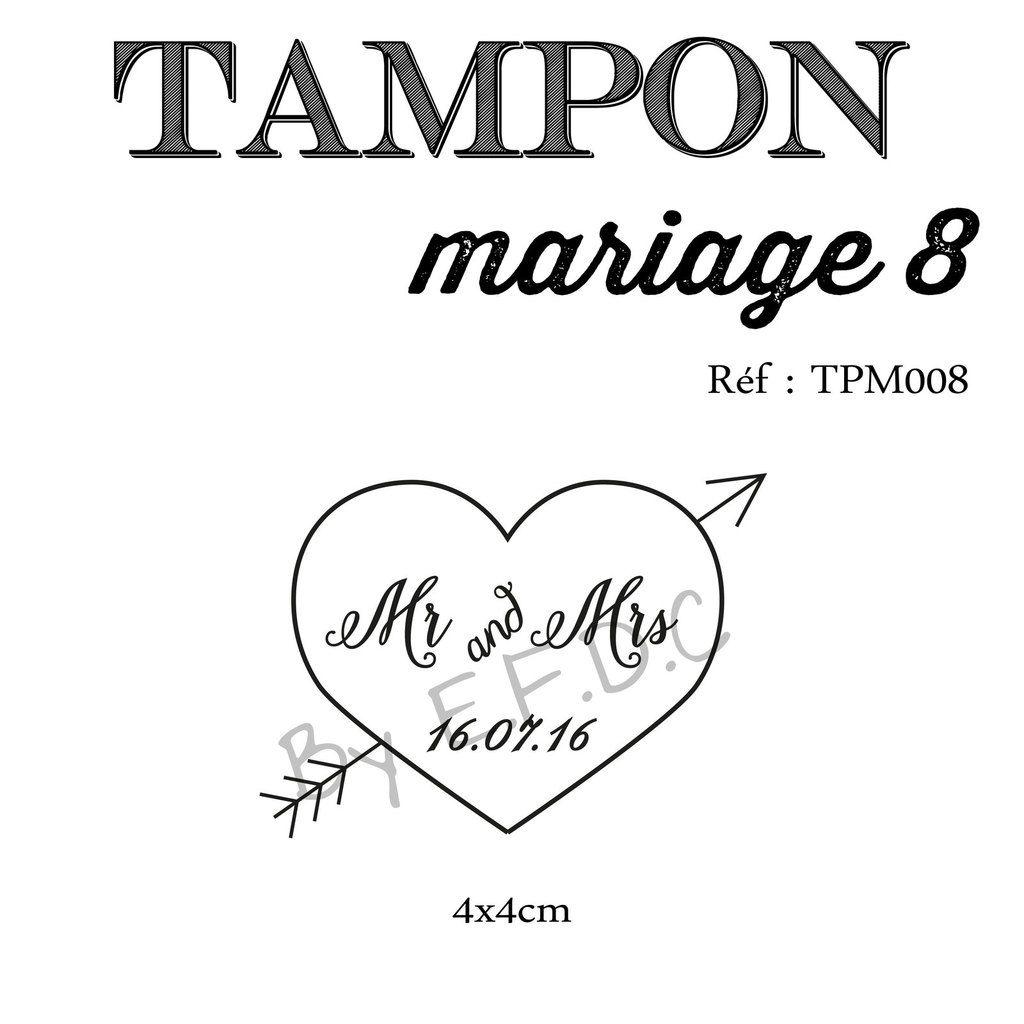 tampon mariage sur mesure et à personnaliser, coeur, flèche et prénom des mariés, scrap digital