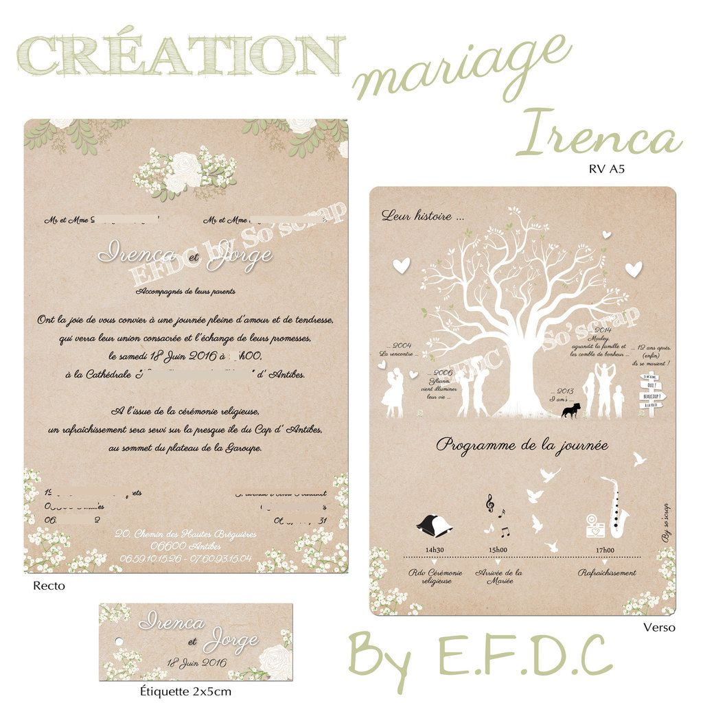 Favori Le Blog d'EFDC by So'scrap - Le faire part de mariage chic et  WF16