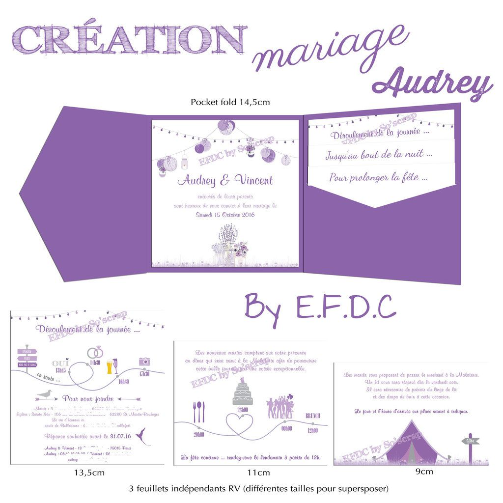 Très Le Blog d'EFDC by So'scrap - Le faire part de mariage d'Audrey  FE66