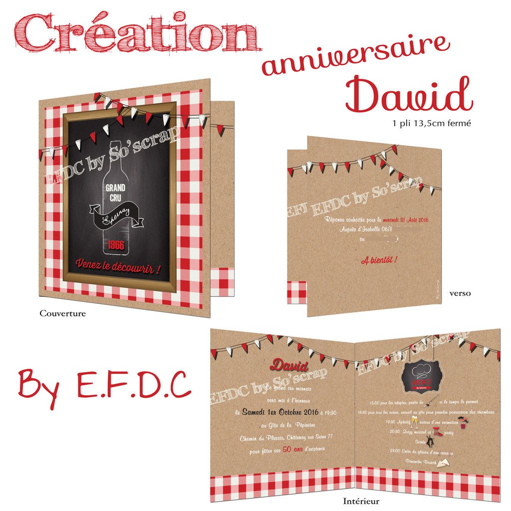 Le Blog D Efdc By So Scrap La Carte Anniversaire Des 50 Ans De