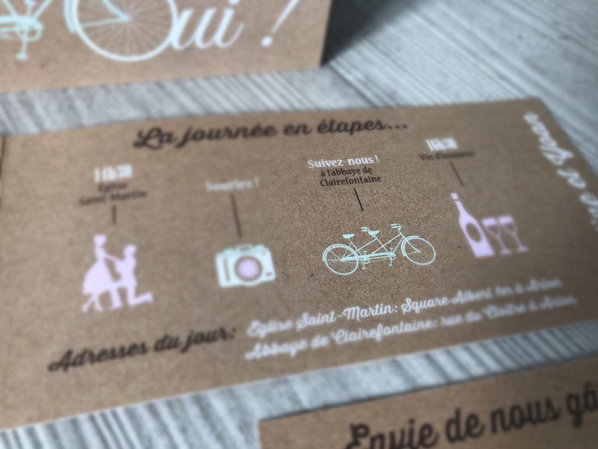 image photographie faire part mariage thème vélo (tandem)