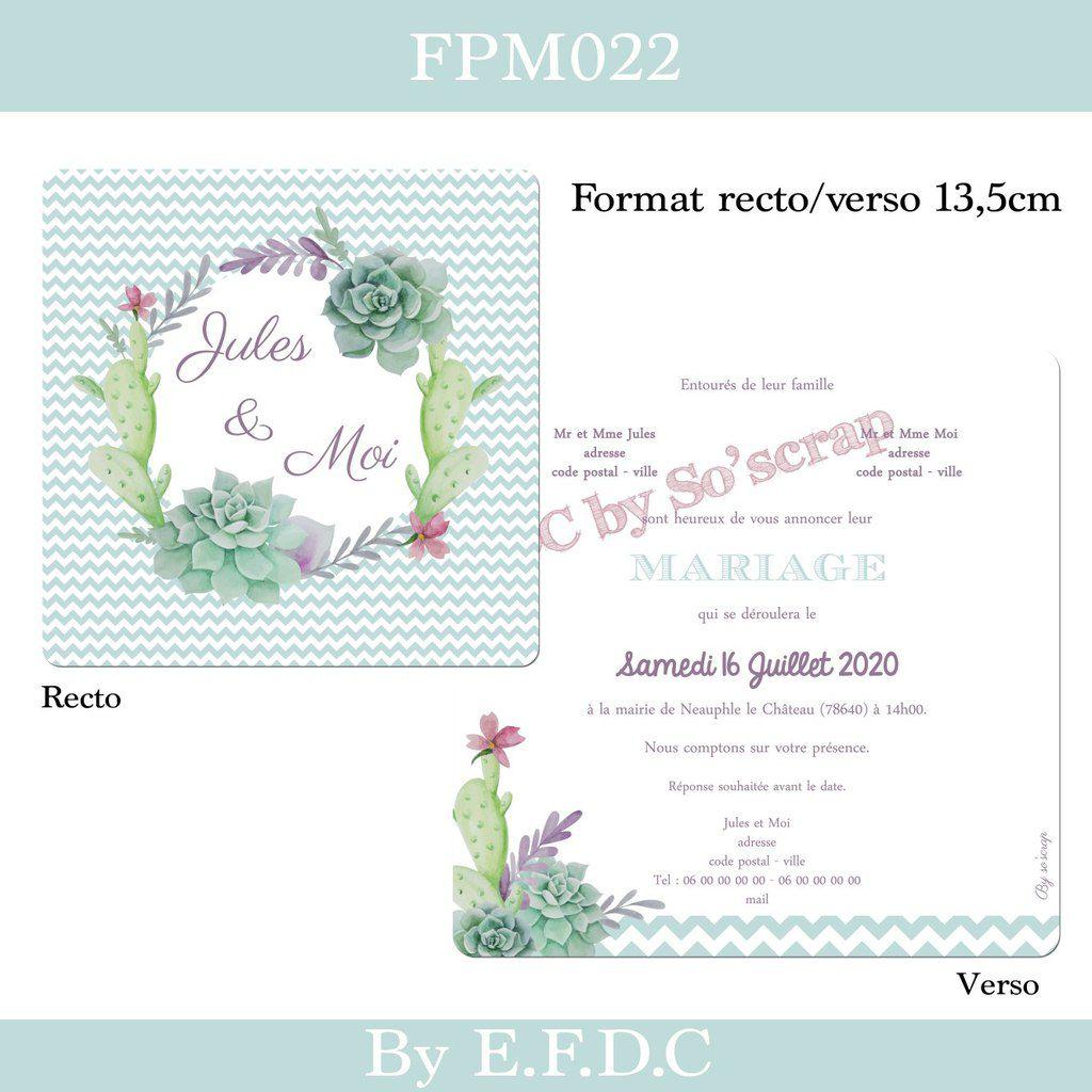Petit relooking du faire part de mariage FPM004 et FPM022 ....